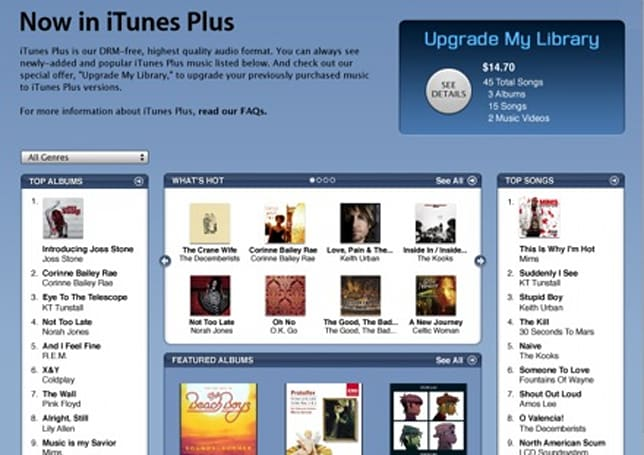 iTunes Plus DRM-free, not free of annoying glitches