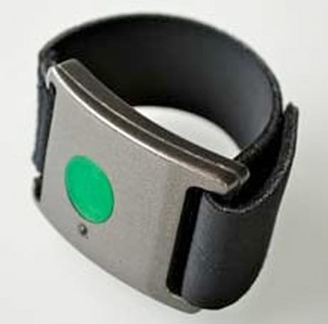 Affectiva's Q Sensor wristband monitors and logs stress levels, might bring back the snap bracelet