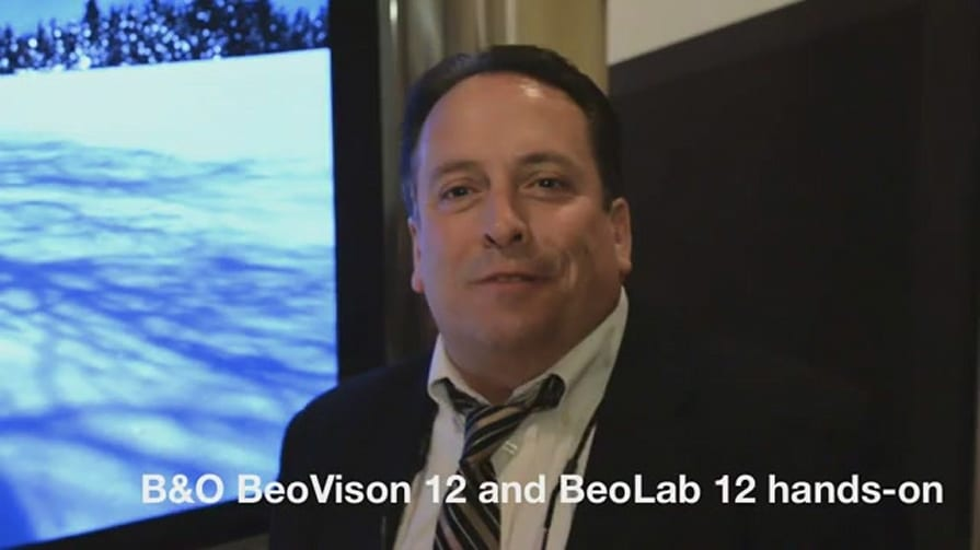 B&O BeoVision 12 Plasma Display, BeoLab 12 Speakers (Eyes-on)- CES 2012