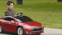 Radio Flyer's Tesla Model S for kids hits the sidewalk in May