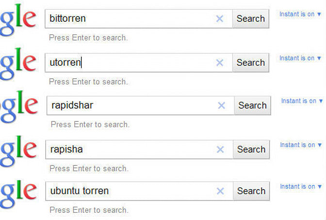 Google begins censoring autocomplete results for BitTorrent, RapidShare and other Big Media profanity