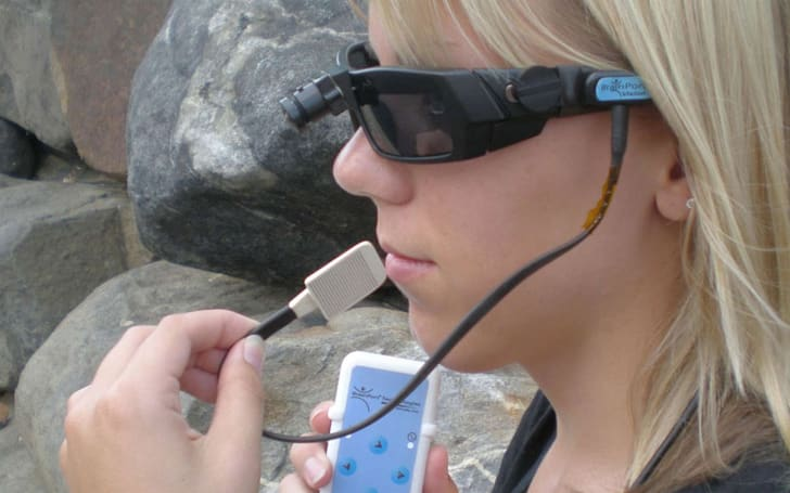 This device helps the blind navigate by tingling their tongues