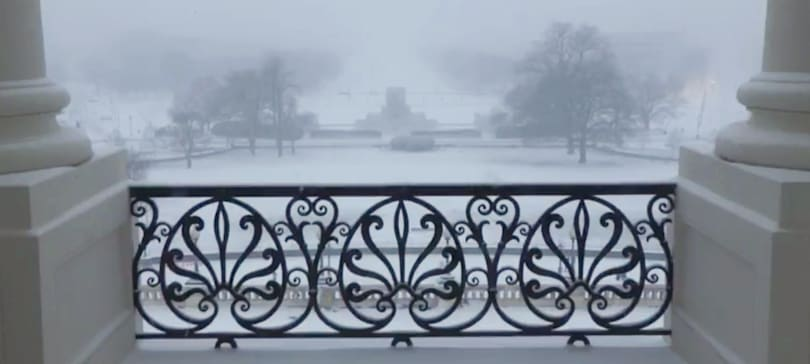 House Speaker livestreams snowstorm with world's worst soundtrack