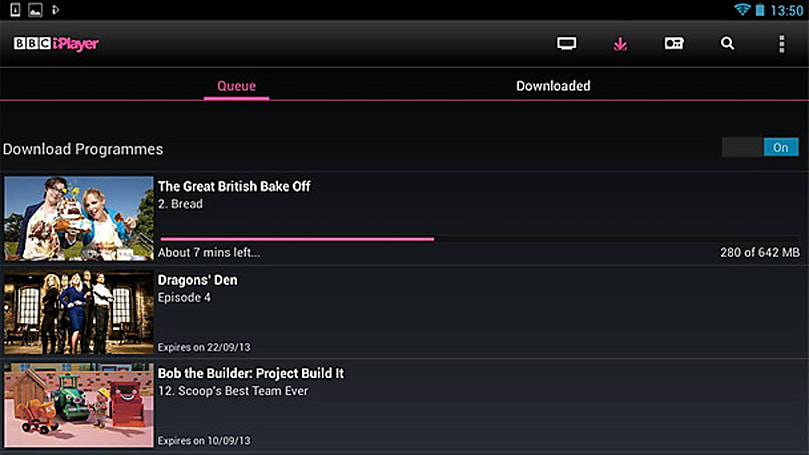 BBC iPlayer for Android finally supports downloads on some ICS, Jelly Bean devices