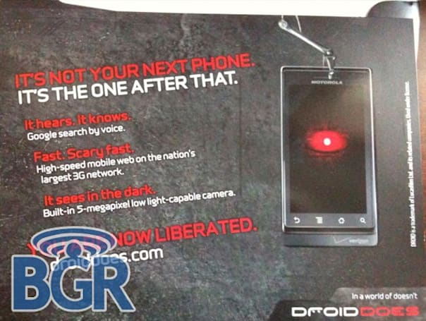 Motorola Droid ads invading mailboxes, too?