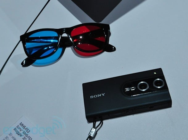 Sony adds three new Bloggie models, including the 1080p Bloggie 3D (update: hands-on video!)