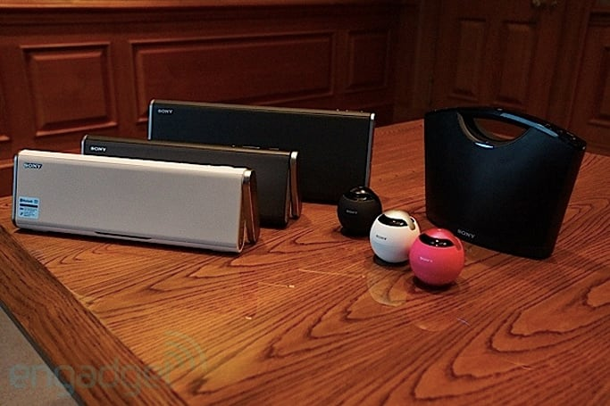 Sony unveils NFC-enabled Bluetooth speakers, waterproof Walkman MP3 headphones at CES (eyes-on)