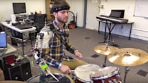 Robotic arm gives drummers an extra hand to thrash with
