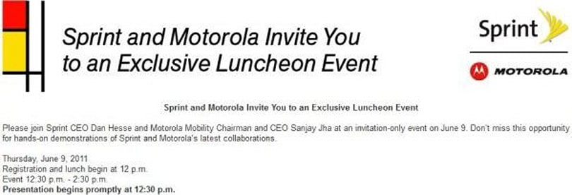 Sprint teams up with Motorola for June 9 event, finally launching a Tegra 2 device?