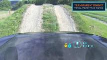 動画:ランドローバーが透明ボンネット技術を公開、前輪と路面を運転席から確認
