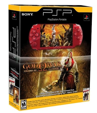 The God of War PSP bundle looks like this