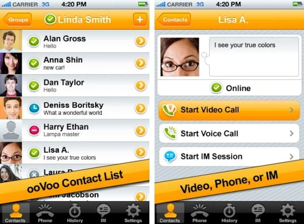 ooVoo brings its webcam wares to iOS with six-way video calling and more