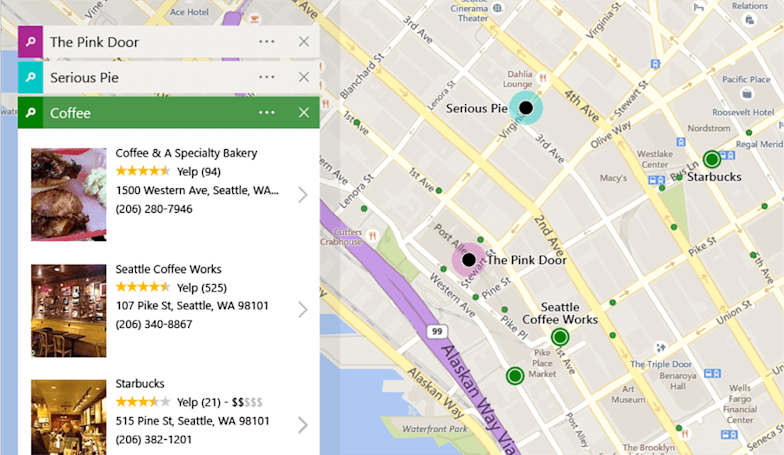 Bing Maps adds trip-planning tools and easy access to reviews