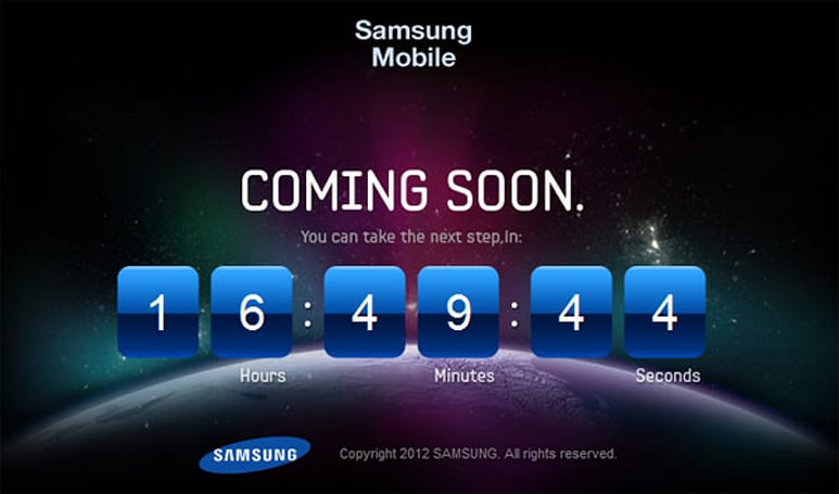 Samsung countdown teases next Galaxy phone with anagram