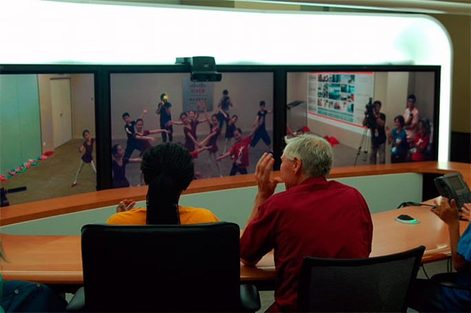 Cisco TelePresence enables intercontinental dance practice at the oddest hours