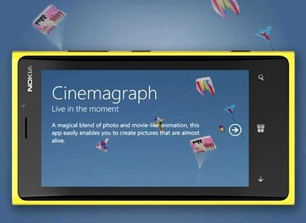 Nokia Cinemagraph update brings 720p, improved desktop quality and color pop feature