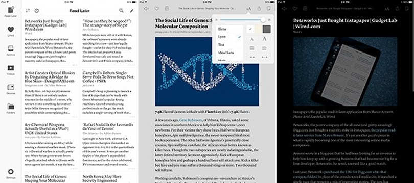 Instapaper now looks much better on your iPad