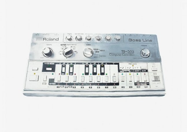 Still life with Roland TB-303 Bass Line