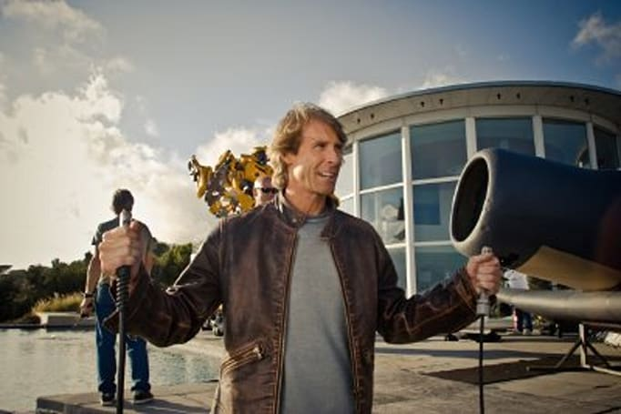 Michael Bay strikes again, pulls out Samsung cellphone at LG promo event