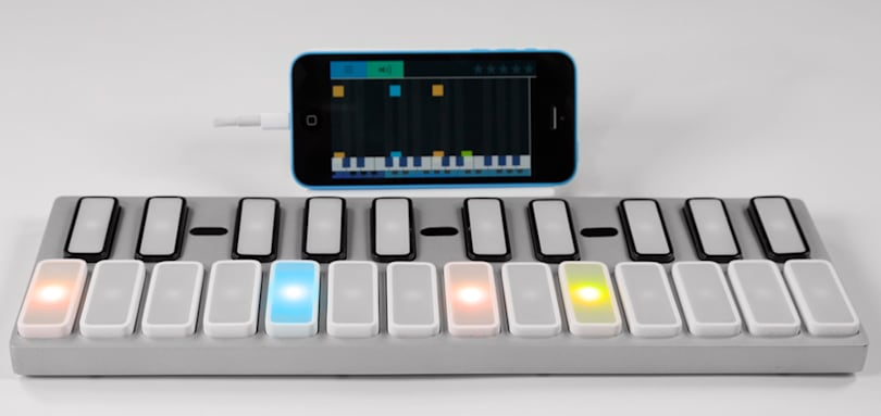 The creator of the gTar returns with a teach-yourself keyboard