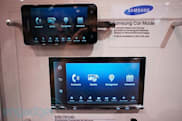 Two Sony MirrorLink car stereos coming in Q2, along with compatible Samsung smartphones (hands-on video)