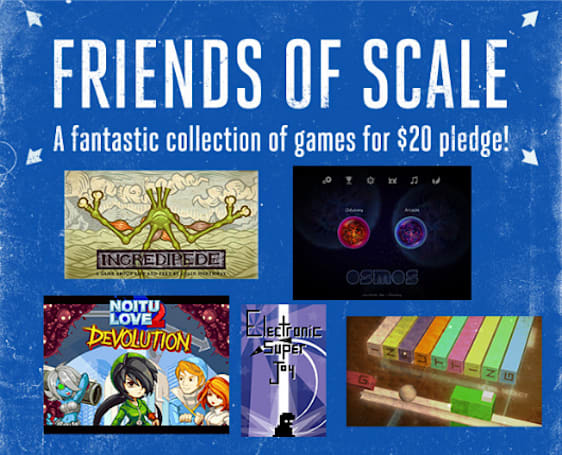 Scale reward tiers just got bigger: $20 gets 5 extra indie games