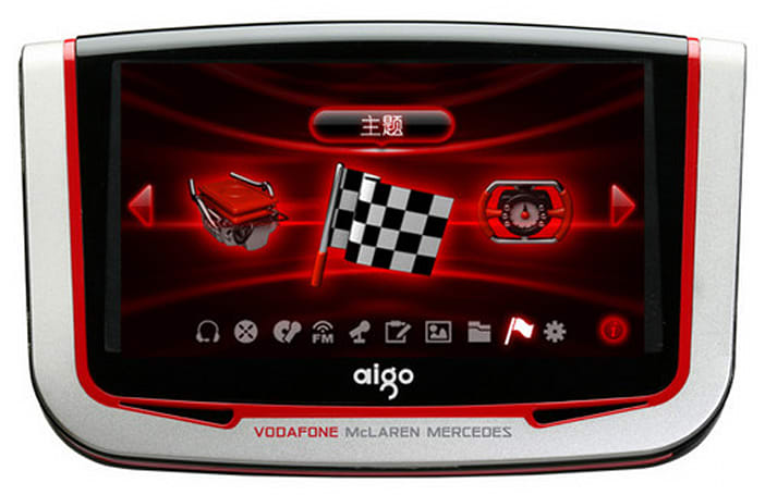 "Aigo ""revs up"" Formula One-themed PMP with 720p output"