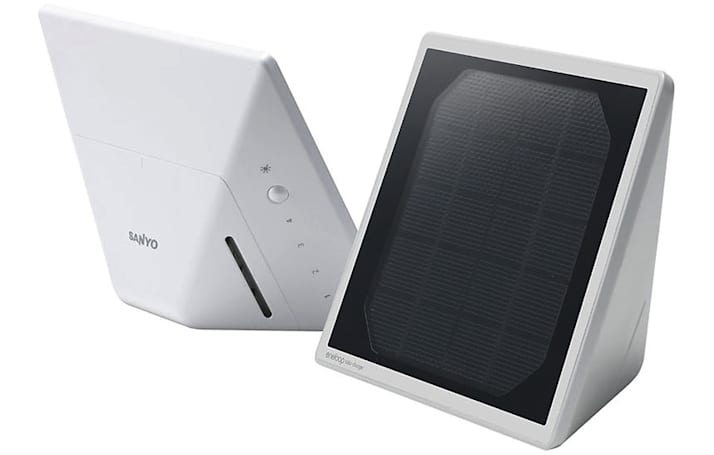 Sanyo Eneloop Solar Charger: charges your iPod too