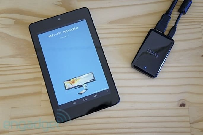Wi-Fi Media lets your Nexus 7 play movies on any screen via HTC's Media Link HD (hands-on video)
