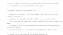 Apple releases OS X 10.9.1 with Mail fixes, more