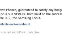 Samsung Focus S, Focus Flash geared up for a November 6th release