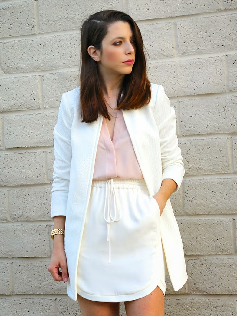 Street style tip of the day: Pink & white