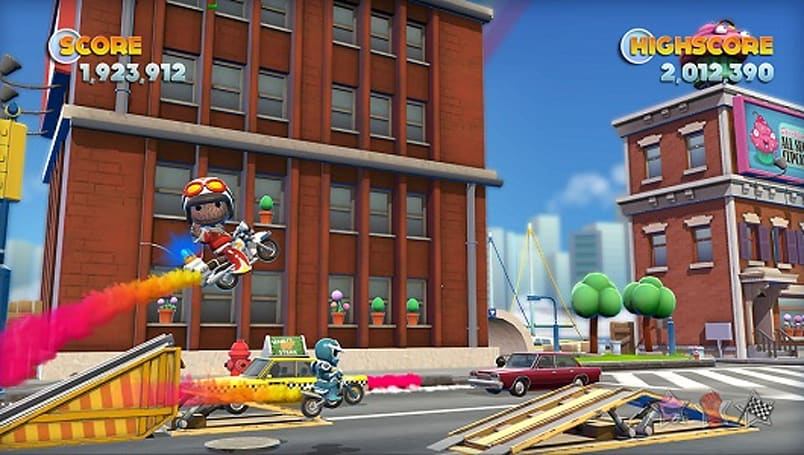 Play as Sackboy and Tearaway's heroes in Joe Danger 2 for Vita
