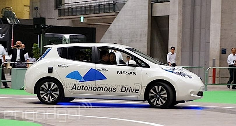Nissan Leaf prototype becomes first autonomous car to hit Japanese highways (video)
