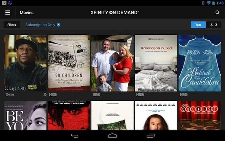 Comcast's Xfinity video on-demand, Streampix apps on Android updated with HD video