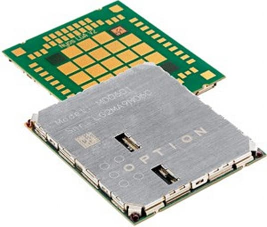 Option's refreshed GTM601 / GTM609 module is the smallest with voice, HSPA, EV-DO, GPS, GLONASS, and alphabet soup