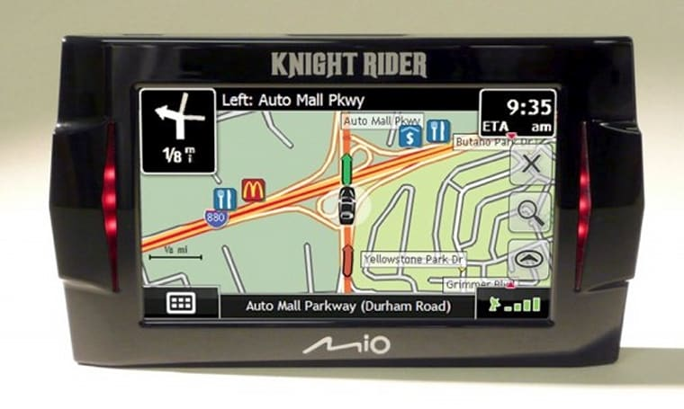 Mio gets official with Knight Rider GPS unit
