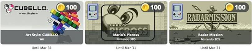 Trade Club Nintendo Coins for Cubello or Game Boy Virtual Console games this month