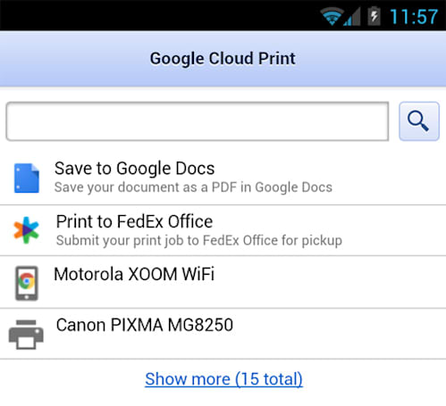Google Cloud Print adds FedEx, Canon to remote printing roster, throws Android users a PDF bone