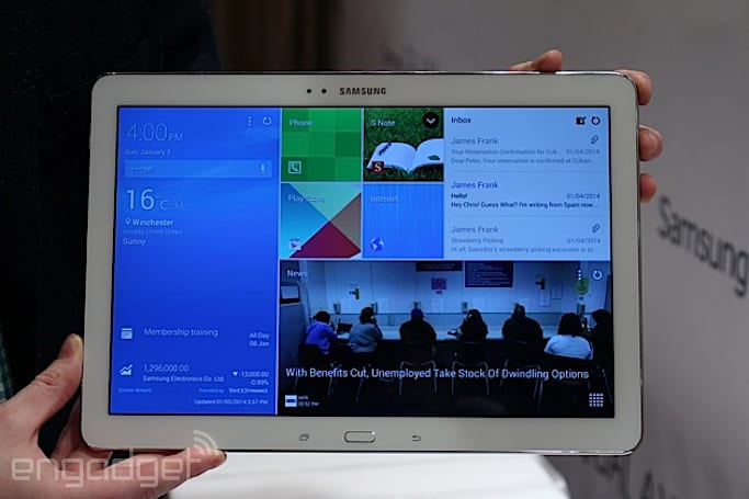 Samsung's Galaxy Note Pro 12.2 is a gigantic tablet that promises extensive productivity (hands-on)