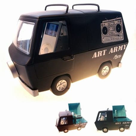 Ruh Roh Shaggy: Art Army Van weds iPod dock, Mystery Machine