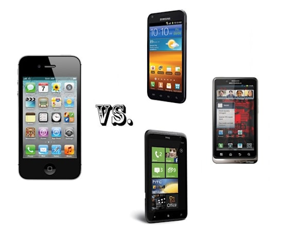 iPhone 4S vs. the smartphone elite: Galaxy S II, Bionic and Titan