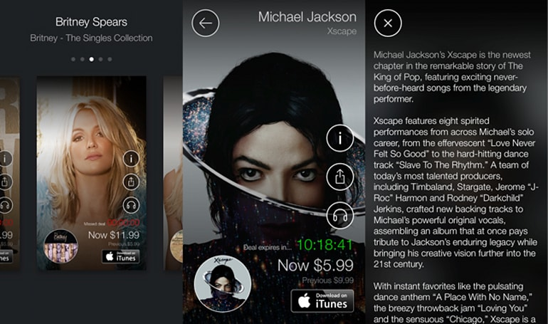 Sony wants you to buy whole albums so badly they made an app for it