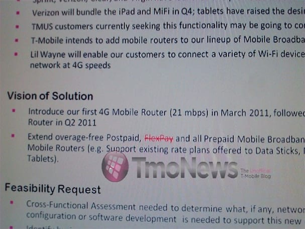 T-Mobile finally getting in on the mobile 3G (or 4G) router craze next March?