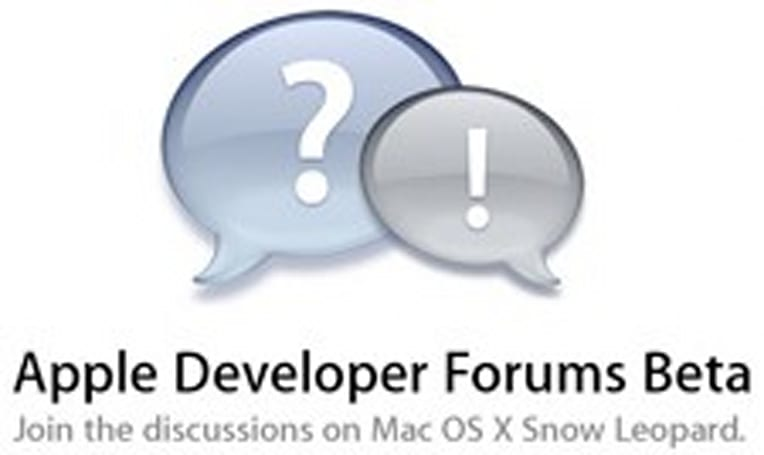 New Snow Leopard discussions on Apple's Developer Forums