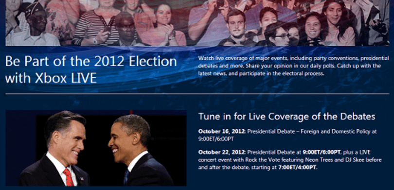 PSA: Watch, interact with tonight's presidential debate on Xbox Live