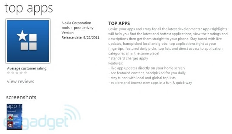 First Nokia app appears on Windows Phone store, suggests you buy more apps
