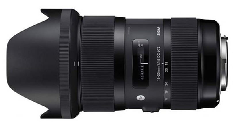 Sigma 18-35mm f/1.8 APS-C zoom lens priced at a surprisingly reasonable $800