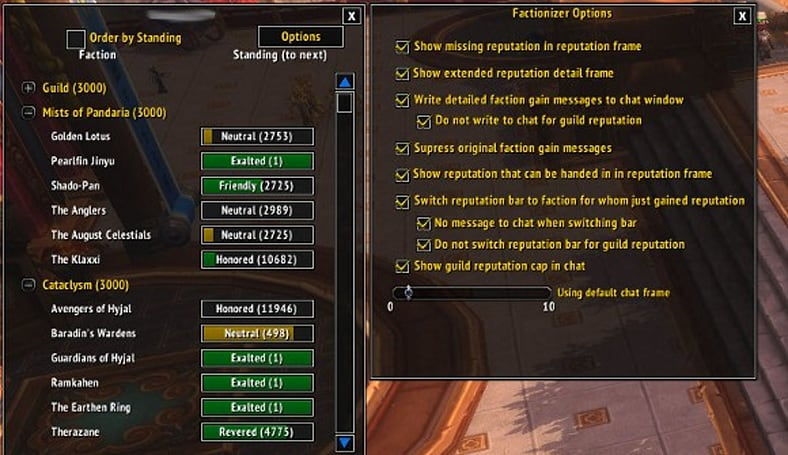 Addon Spotlight: Reputation Addons