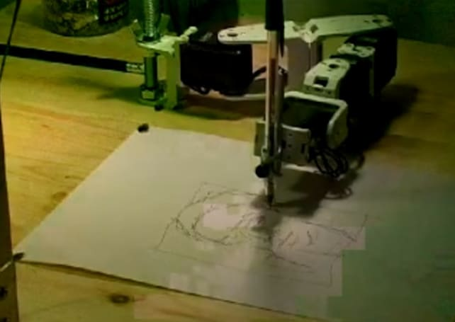 Aikon 2 robot sketches the human face, uses its talent to meet girls